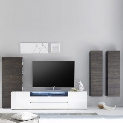 Lima I - high  gloss lacquered TV wall unit