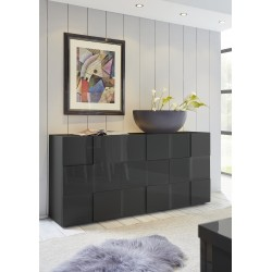 Diana 181cm three doors grey gloss sideboard