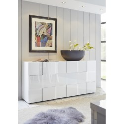 Diana 181cm three doors white gloss sideboard