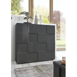Diana II grey gloss highboard
