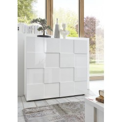 Diana II white gloss highboard