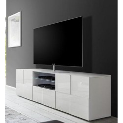 Diana 181cm white gloss TV Unit with LED lights