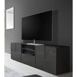 Diana 181cm grey gloss TV Unit with LED lights