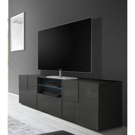 Diana 181cm grey gloss TV Unit with LED lights