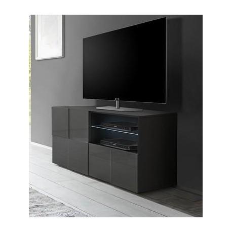 diana 121cm grey gloss tv unit with led lights tv stands. Black Bedroom Furniture Sets. Home Design Ideas