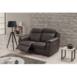 Mattia 2 Seater leather sofa with electric recliner