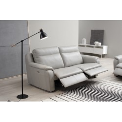 Mattia 3 Seater leather sofa with electric recliner - fast delivery