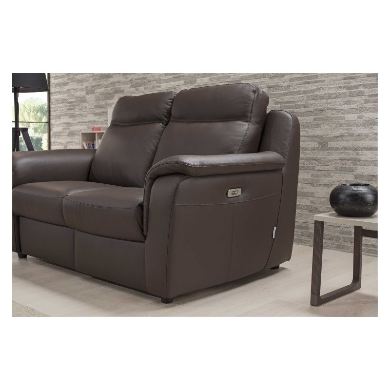 Mattia 3 Seater Leather Sofa With Electric Recliner