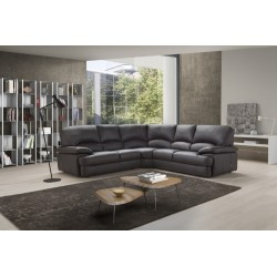 Milano corner leather sofa - fast delivery
