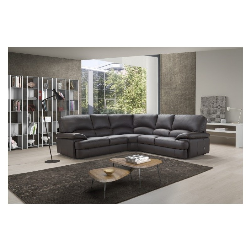Milano Corner Leather Sofa