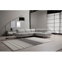 Caprice Italian corner leather sofa