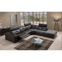 Manhattan corner leather sofa with electric reclainer