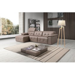 Rimini corner leather sofa