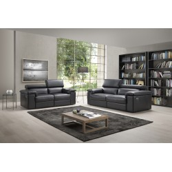 Sorrento leather collection with electric recliners