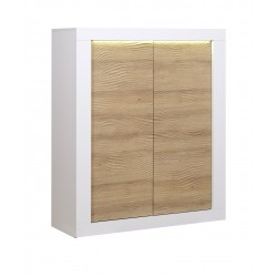 Karma II -white and oak Highboard with LED lights