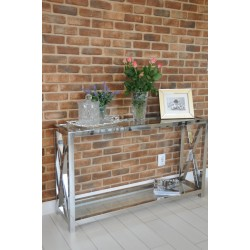 Joanne - luxury bespoke stainless steel console table