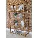 Joanne display cabinet in Stainless Steel with glass shelves