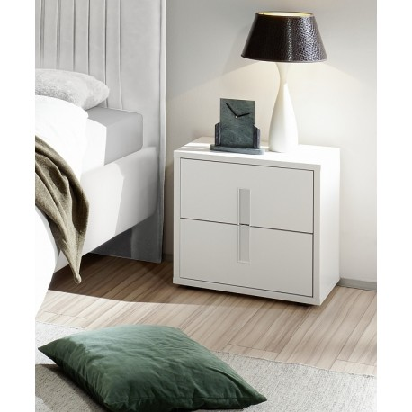 Mare - white lacquered bedside cabinet