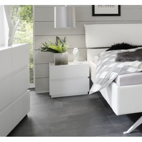 Rex white - lacquered bedside cabinet
