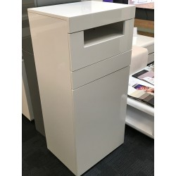 Manchester - gloss tall cabinet with LED lights-ex display