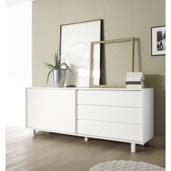 Armadio - white matt lacquered sideboard with drawers