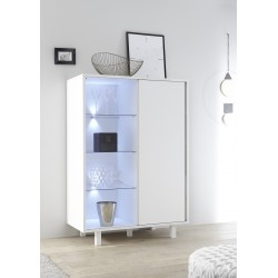 Armadio matt lacquered highboard with sliding door