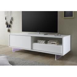 Armadio II lacquered TV unit with glass legs and LED
