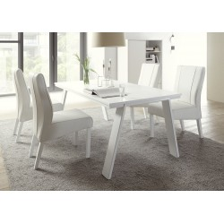 Armadio white matt lacquered dining table