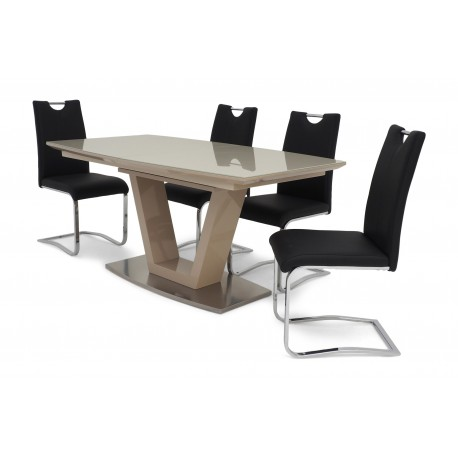 Iko II extendable dining table in cream