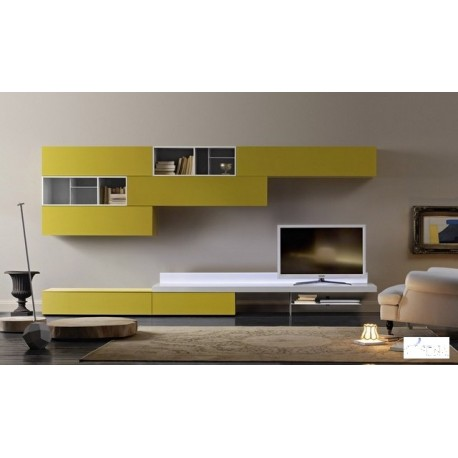Giallo lacquer wall set