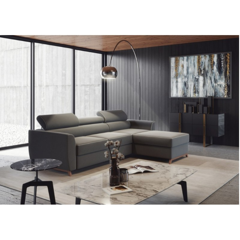 Novel Corner Modular Sofa Bed With Otoman