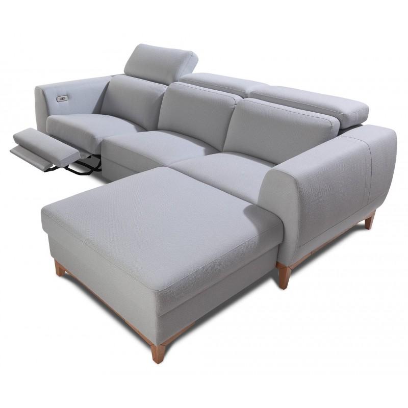 Arezzo corner modular sofa with ottoman sofas sena for Modular sectional sofa with ottoman