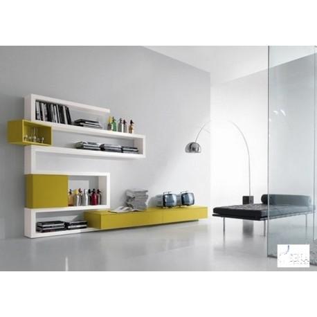 Zig zag IV - lacquer wall set