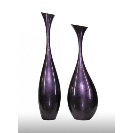 Bottle vase Indigo finish 28 x 47 x 145 cm