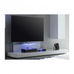 Line white gloss TV unit wit LED lights