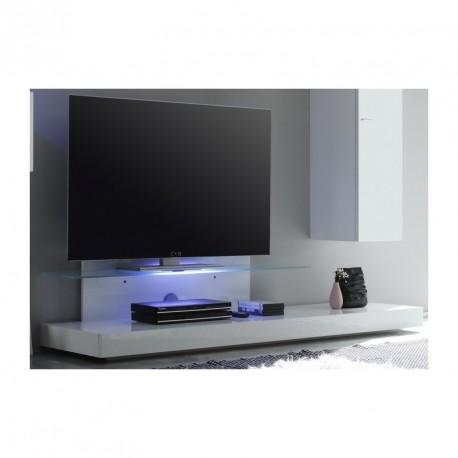 Line white gloss TV unit wit LED lights