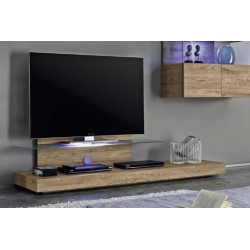 Line II wood TV Unit with LED lights
