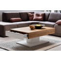 Provo white coffee table with oak imitation top