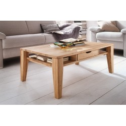 Kai - solid wood coffee table oak bianco