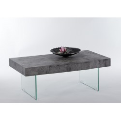 Atena III coffee table with concrete imitation top