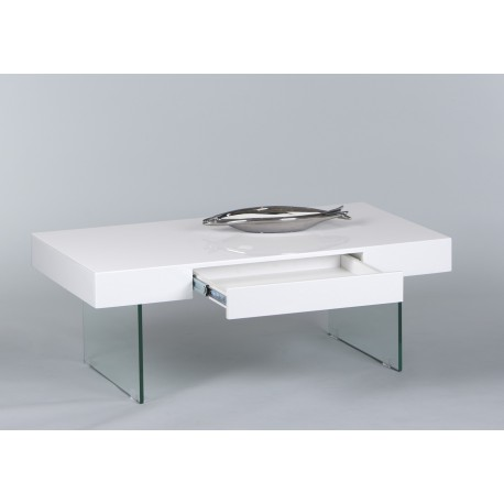 Daisy white gloss coffee table