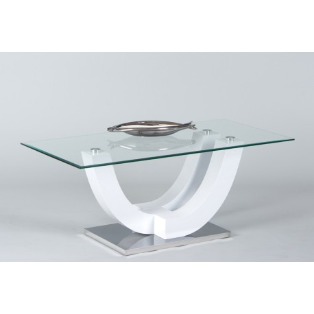Song - glass top coffee table