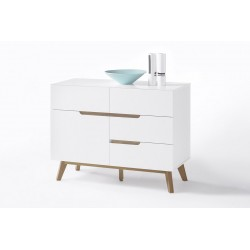 Sparta - white sideboard with oak