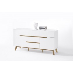 Sparta II - sideboard in white and oak finish