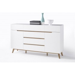 Sparta III - sideboard in white and oak finish