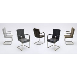 Stella II - modern dining chair with armrests