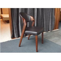 K 375 - luxury dining chair in walnut wood