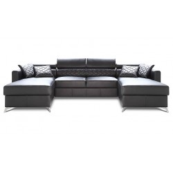 Metro - U Shape Modular Sofa with ottoman`s
