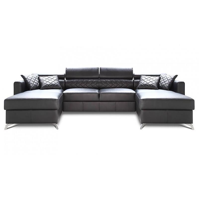 Metro u shape modular sofa with ottomans sofas sena for U shaped sectional sofa with ottoman