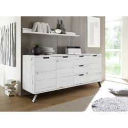 Parma- white oak 3 door modern sideboard